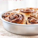 Pan of 5 spice chocolate roll buns