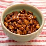 Bowl of sweet and spicy peanuts made with 5 spice powder