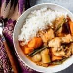 Kaffir leaf Chicken curry with rice