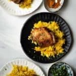 Chicken and turmeric baked rice
