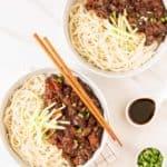 2 bowls of vegan jajangmyeon