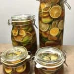 4 jars of Korean green tangerine syrup waiting to mature after 1 week